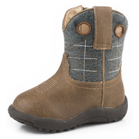 Roper Infant Cowbaby Wild Bill Boot (16191522) Brown/Blue [SD]