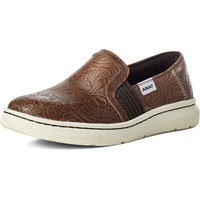Ariat Womens Ryder Slip-On Shoe (10035765) Brown Floral Emboss
