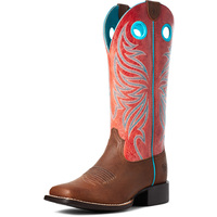Ariat Womens Round Up Ryder Boots (10035993) Barrel Brown/Red