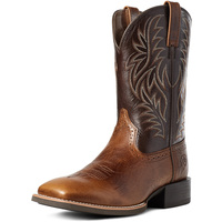 Ariat Mens Sport Western Wide Square Toe Boots (10035996) Peanut Butter