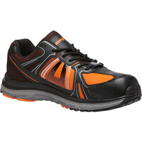 KingGee Mens Sport Safety Shoes (K26465) Black/Orange