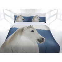 Ladelle Snowy Horse Quilt Cover Set