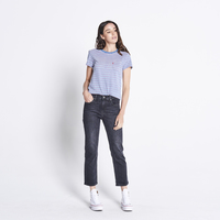 Levi's Womens The Perfect Crew Tee (18672-0084) Indigo/Cyclamen/Cloud Dancer  _S18 [SD]