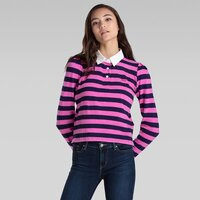 Levi's Womens Danni Rugby Tee (79145-0002) Vernon Phlox Pink Stripe
