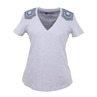 Outback Trading Western Saddle T-Shirt (40027) White [SD]