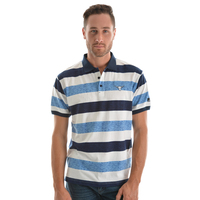 Pure Western Mens Andy S/S Polo (P9S1505261) Dark Navy/Blue _S19