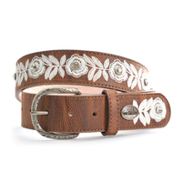 Pure Western Womens Flora Belt (P9S2911BLT) Brown _S19