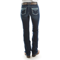 Pure Western Womens Alice Relaxed Rider Jeans (PCP2210282) Darkest Night
