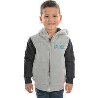 Pure Western Boys Cambridge Zip Up Hoodie (P0W3710297) Grey Marle