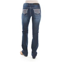 Pure Western Womens Angie Relaxed Rider Jeans (PCP2210314) Midnight