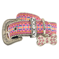 Pure Western Leah Dog Collar (P0S2971CLR) Pink