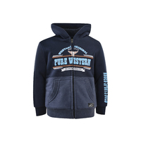 Pure Western Boys Scott Zip Up Hoodie (P1W3710400) Navy