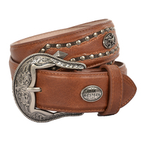 Pure Western Mens Carlo Belt (P1W1926BLT) Dark Tan