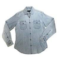 Ritemate Womens Dual Pocket L/S Denim Shirt (RMPC027)