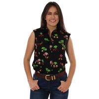 Ringers Western Womens Sundowner Sleeveless Workshirt (219110231) Black