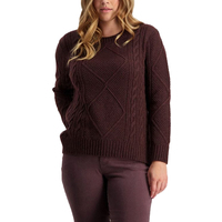 Swanndri Womens Althorp Cable Crew Neck Jumper (SW205108W) [SD]