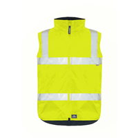 Rainbird Mens Hi Vis Reversible Utility Vest (8553) Yellow