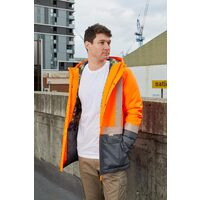Rainbird Mens Hi Vis Harvey Parka (8619) Orange/Charcoal