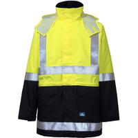 Rainbird Mens Hi Vis Sentinel Jacket (8485) Fluro Yellow/Navy
