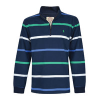 Thomas Cook Mens Anthony Stripe 1/4 Zip Neck Rugby (T8W1524021)