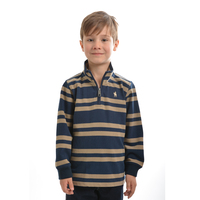 Thomas Cook Boys Neerim Stripe 1/4 Zip Neck Rugby (T9W3513015) _W19