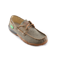 Twisted X Mens Casual Driving Moccasin Lace Up (TCMDM0004) Dust/Bomber