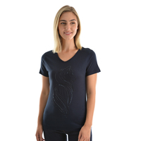 Thomas Cook Womens Sequin T-Shirt (T9S2515092) Dark Navy _S19 [SD]