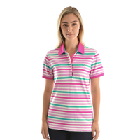 Thomas Cook Womens Ava Stripe S/S Polo (T9S2518064) Pink/Multi _S19