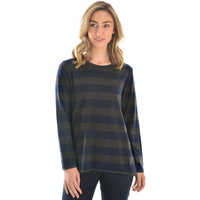 Thomas Cook Womens Betty Stripe L/S Top (T0W2543082) Grey Marle/Dark Navy _W20
