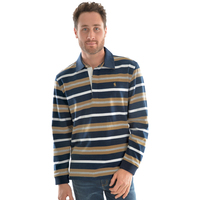 Thomas Cook Mens Langdon Stripe Rugby (T0W1503024) Navy/Tan _W20 [SD]