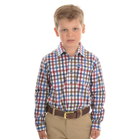 Thomas Cook Boys Evans Check 2 Pocket L/S Shirt (T0W3140013) Whiskey _W20 [SD]