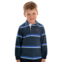 Thomas Cook Boys Narrung Stripe Rugby (T0W3502022) Navy/Royal _W20 [SD]