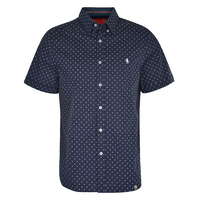 Thomas Cook Mens Allumba Tailored S/S Shirt (T0S1121002) Navy [SD]