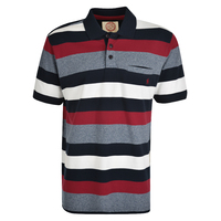 Thomas Cook Mens Jetson Polo (T0S1509025) Navy Marle/Red