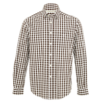 R.M. Williams Collins Button Down Shirt (SH201PSPI01) Brown White [SD]