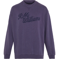 R.M. Williams Mens R.M.W Script Crew Neck (KC400332C01) Blue