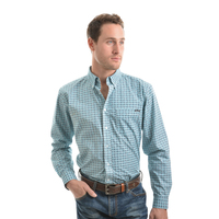 Wrangler Mens Broden Print Button Down L/S Shirt (X9W1115344) _W19 [SD]