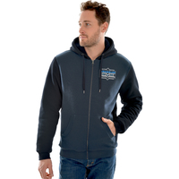 Wrangler Mens James Zip Up Hoodie (X0W1778467) Navy Marle _W20 [SD]