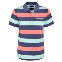 Wrangler Womens Kacey Polo (X0S2563580) Navy Marle/Coral