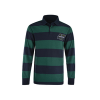 Wrangler Mens Howard Stripe Rugby (X1W1551612) Green/Navy