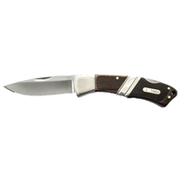 Schrade Mountain Beaver 80mm with Leather Pouch (29OT)