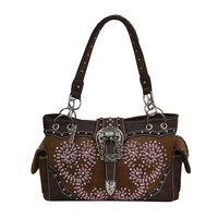 Pure Western Womens Carley Handbag (P8W2954HBG) Chocolate  [SD]