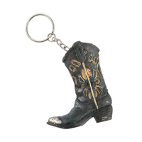 Pure Western Boot Black Flower Key Chain (P9S1924GFT) Assorted OSFM _S19