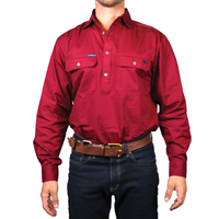 Ringers Western Mens King River Half Button Work Shirt (171110002)