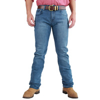 Ringers Western Mens Mitchell Classic Fit Straight Leg Jeans (117108003) Light Blue