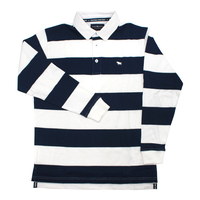 Ringers Western Mens Geraldton Rugby Jersey (118216001) Navy Stripe