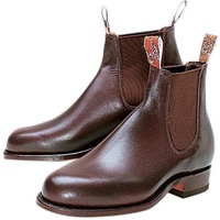 R.M.WILLIAMS TURNOUT BOOT CHESTNUT 10.5H B531