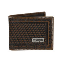 Wrangler Mens Trevor Wallet (X8S1991WLT) Dark Tan/Coffee OSFA  [SD]