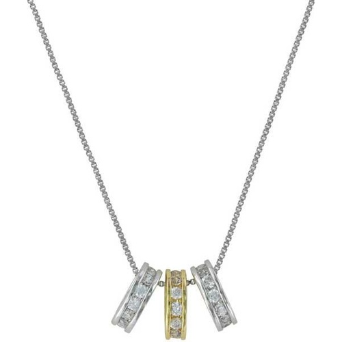 Montana Jewellery Two-tone Triple Shine Necklace (NC2748) [AD]