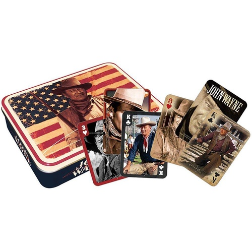 John Wayne Flag Playing Cards in a Tin (OPC104051)